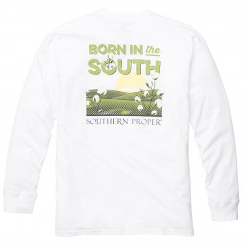 Born In The South: White Long Sleeve